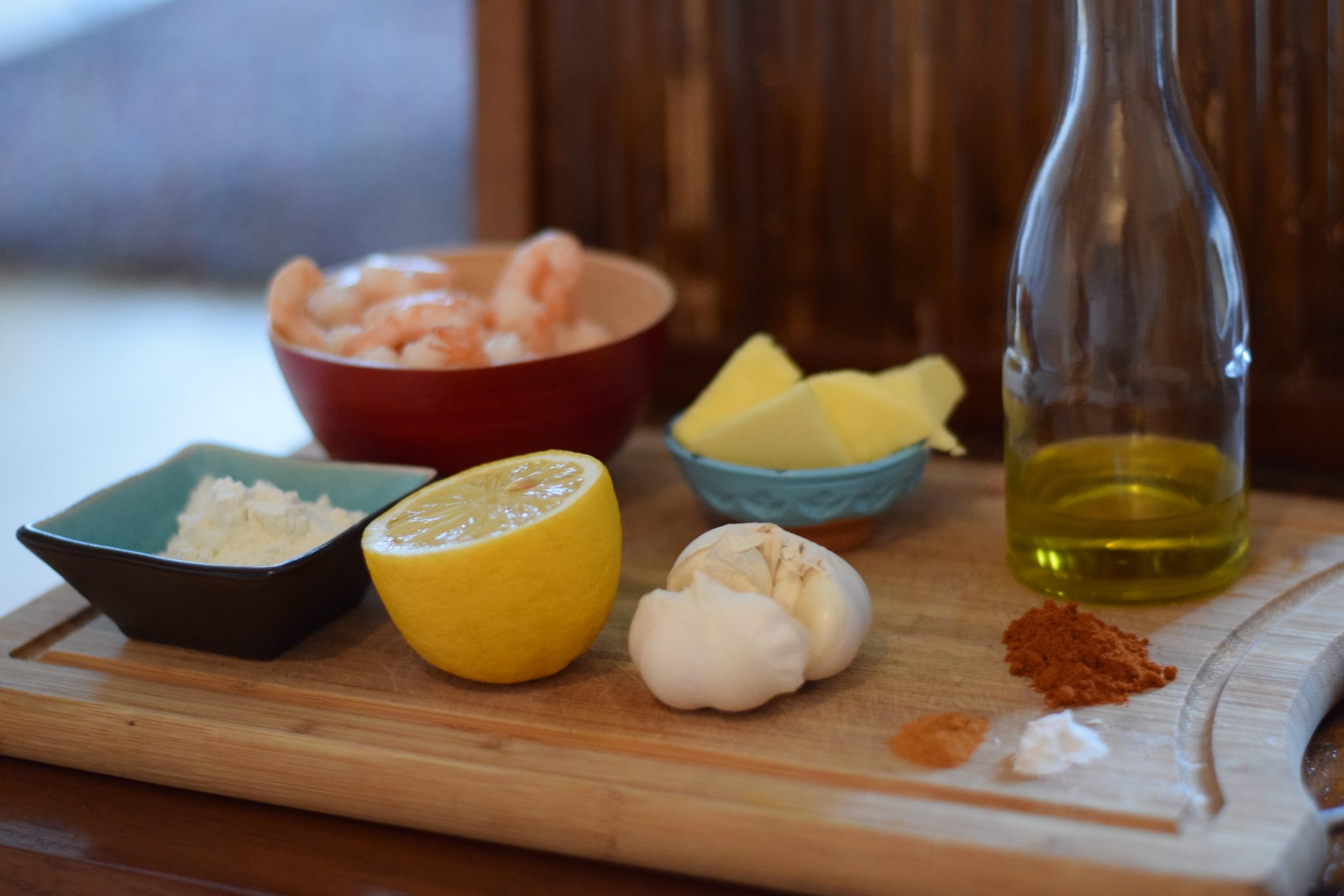 Recept voor Hawaiiaanse garlic shrimps
